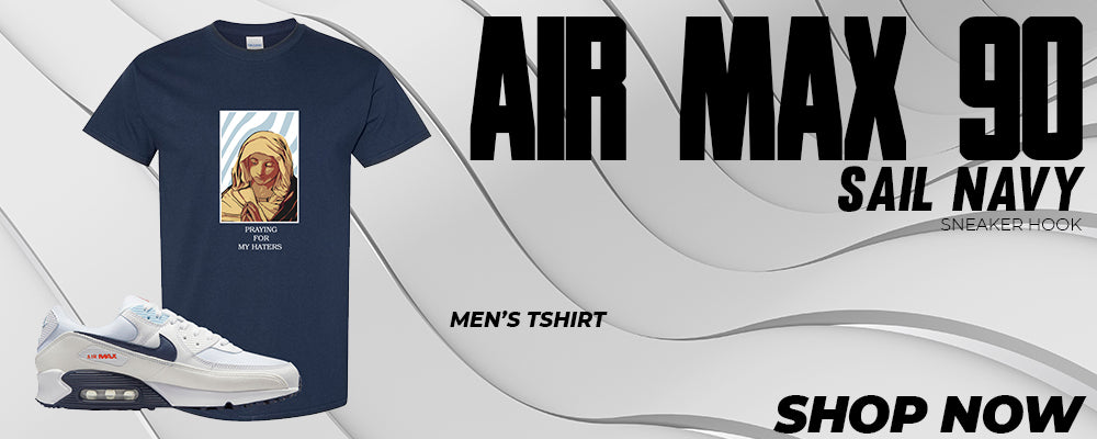 Air Max 90 Sail / Navy T Shirts to match Sneakers | Tees to match Nike Air Max 90 Sail / Navy Shoes