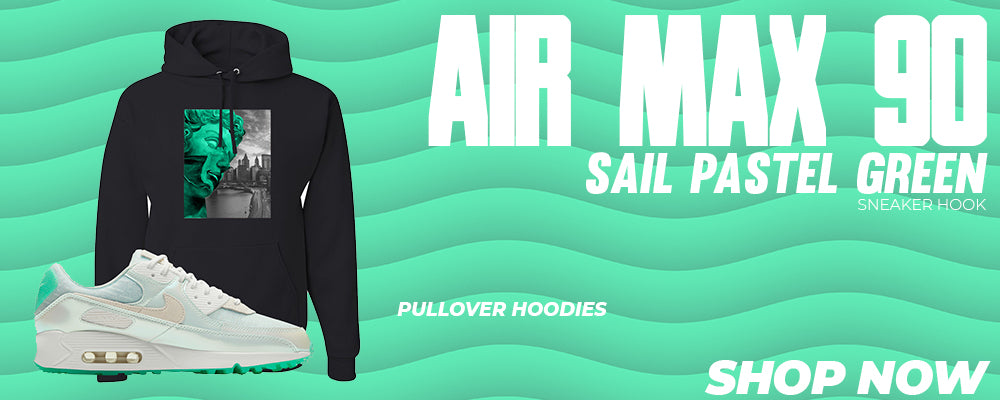 Air Max 90 Sail Pastel Green Pullover Hoodies to match Sneakers | Hoodies to match Nike Air Max 90 Sail Pastel Green Shoes