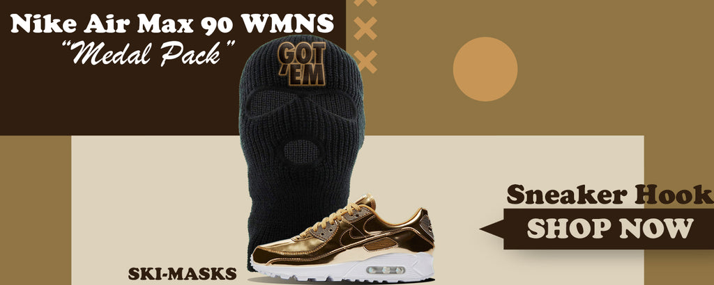 Air Max 90 WMNS 'Medal Pack' Gold Ski Masks to match Sneakers | Winter Masks to match Nike Air Max 90 WMNS 'Medal Pack' Gold Shoes