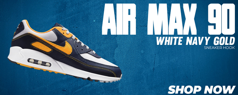 Air Max 90 White Navy Gold Clothing to match Sneakers | Clothing to match Nike Air Max 90 White Navy Gold Shoes