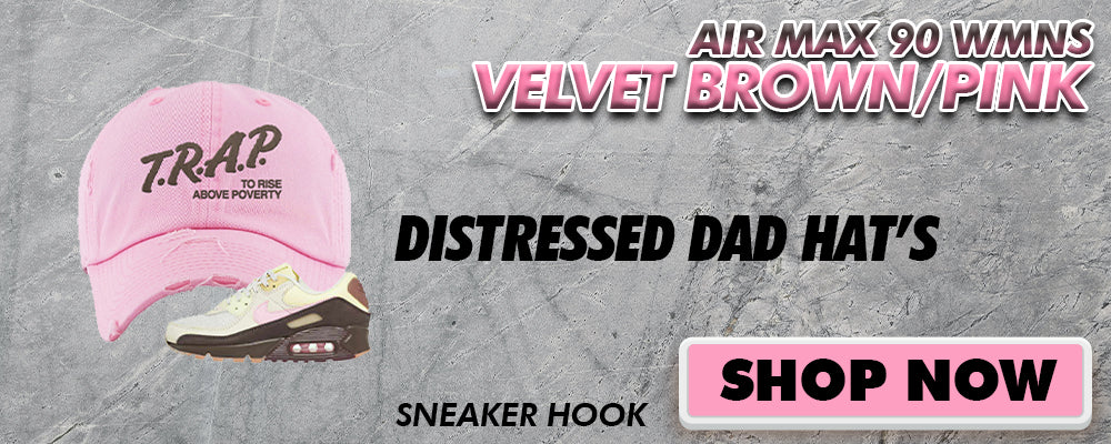 Air Max 90 WMNS Velvet Brown / Pink Distressed Dad Hats to match Sneakers | Hats to match Nike Air Max 90 WMNS Velvet Brown / Pink Shoes