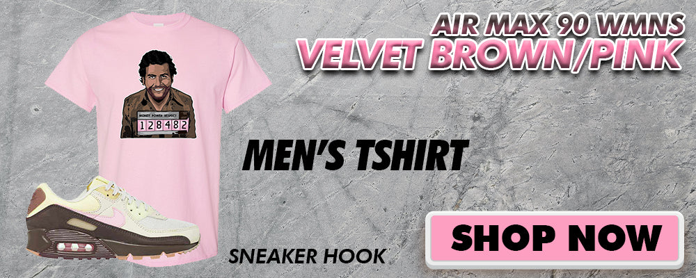 Air Max 90 WMNS Velvet Brown / Pink T Shirts to match Sneakers | Tees to match Nike Air Max 90 WMNS Velvet Brown / Pink Shoes