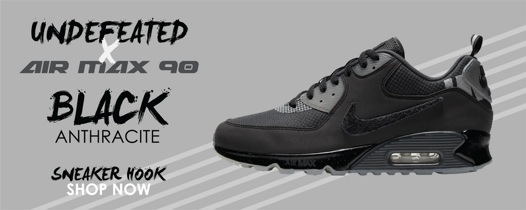 Air Max 90 x Undefeated Black Anthracite Clothing to match Sneakers | Clothing to match Air Max 90 x Undefeated Black Anthracite Shoes