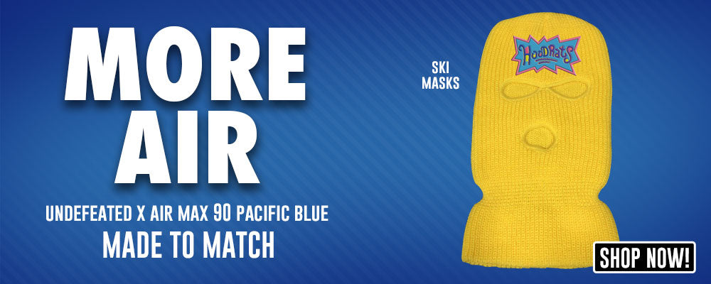 Undefeated x Air Max 90 Pacific Blue Ski Masks to match Sneakers | Winter Masks to match Undefeated x Nike Air Max 90 Pacific Blue Shoes