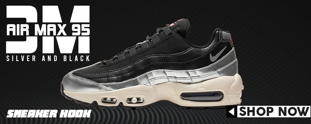 Air Max 95 Silver and Black x 3M Clothing to match Sneakers | Clothing to match Nike Air Max 95 Silver and Black x 3M Shoes