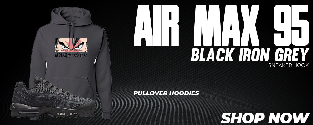 Air Max 95 Black Iron Grey Pullover Hoodies to match Sneakers | Hoodies to match Nike Air Max 95 Black Iron Grey Shoes