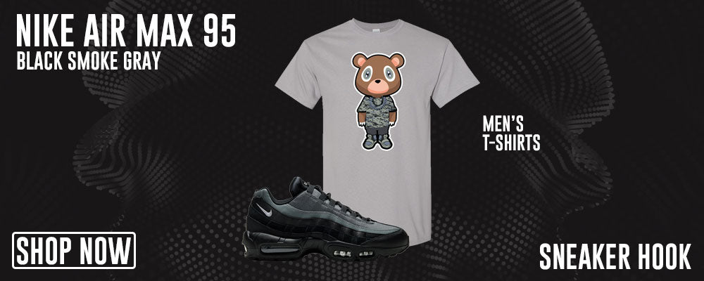 Air Max 95 Black Smoke Grey T Shirts to match Sneakers | Tees to match Nike Air Max 95 Black Smoke Grey Shoes