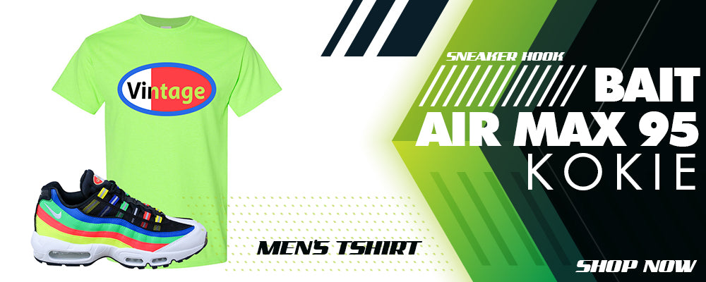 BAIT Air Max 95 Kokie T Shirts to match Sneakers | Tees to match BAIT Nike Air Max 95 Kokie Shoes