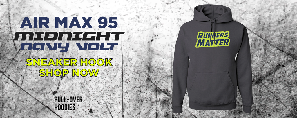 Air Max 95 Midnight Navy/Volt Pullover Hoodies to match Sneakers | Hoodies to match Nike Air Max 95 Midnight Navy/Volt Shoes