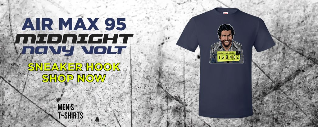 Air Max 95 Midnight Navy/Volt T Shirts to match Sneakers | Tees to match Nike Air Max 95 Midnight Navy/Volt Shoes