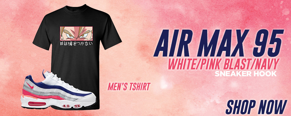 Air Max 95 White/Pink Blast/Navy T Shirts to match Sneakers | Tees to match Nike Air Max 95 White/Pink Blast/Navy Shoes