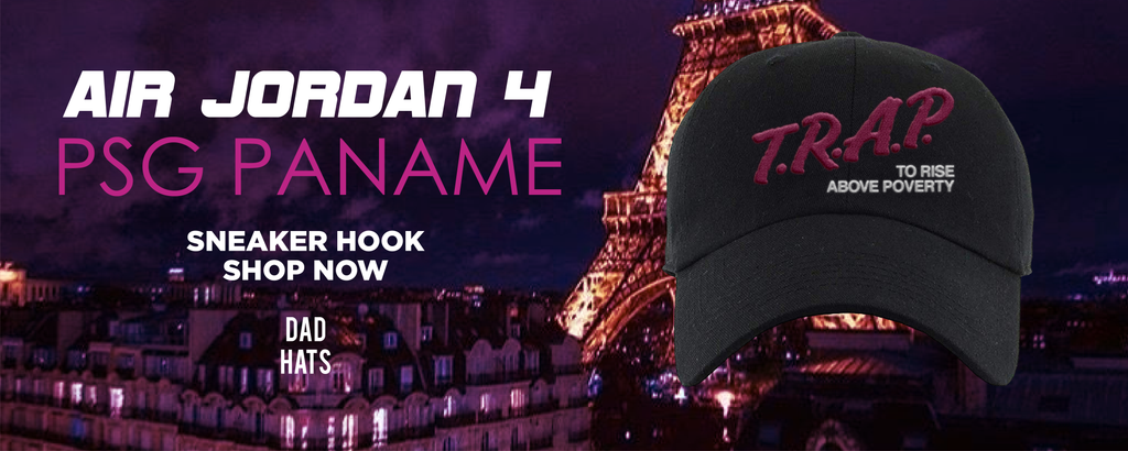 Air Jordan 4 PSG Paname Dad Hats to match Sneakers | Hats to match Nike Air Jordan 4 PSG Paname Shoes