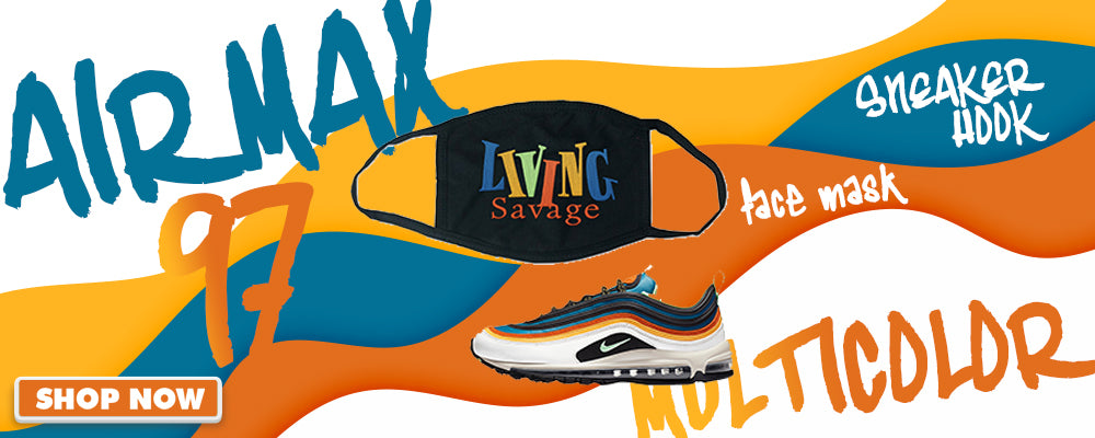 Air Max 97 Multi-Color Face Mask to match Sneakers | Masks to match Nike Air Max 97 Multi-Color Shoes