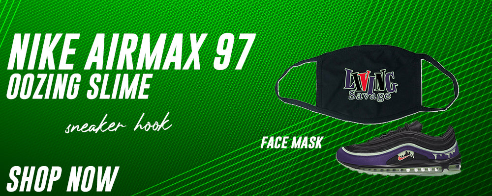 Air Max 97 Oozing Slime Face Mask to match Sneakers   Masks to match Nike Air Max 97 Oozing Slime Shoes