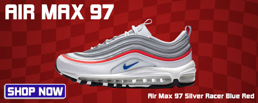 Air Max 97 Silver Racer Blue Red Clothing to match Sneakers | Clothing to match Nike Air Max 97 Silver Racer Blue Red Shoes