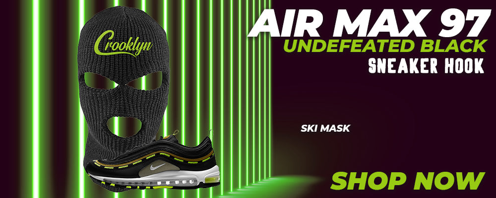 Air Max 97 UNDEFEATED Black Ski Masks to match Sneakers | Winter Masks to match Nike Air Max 97 UNDEFEATED Black Shoes