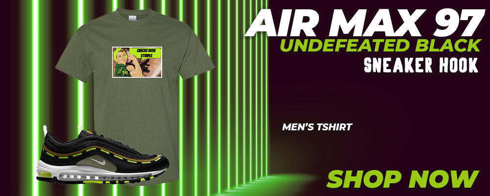 Air Max 97 UNDEFEATED Black T Shirts to match Sneakers | Tees to match Nike Air Max 97 UNDEFEATED Black Shoes