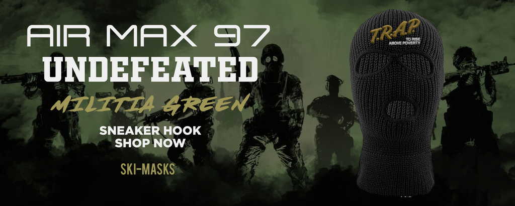 Air Max 97 Undefeated Militia Green Ski Masks to match Sneakers | Winter Masks to match Nike Air Max 97 Undefeated Militia Green Shoes
