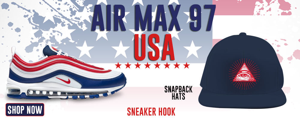 Air Max 97 USA Snapback Hats to match Sneakers | Hats to match Nike Air Max 97 USA Shoes