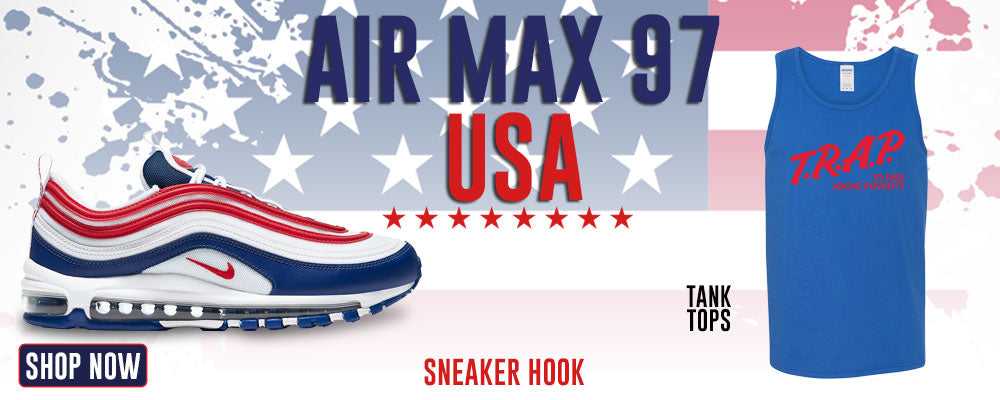 Air Max 97 USA Tank Tops to match Sneakers | Tanks to match Nike Air Max 97 USA Shoes