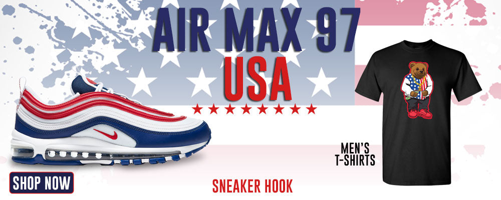 Air Max 97 USA T Shirts to match Sneakers | Tees to match Nike Air Max 97 USA Shoes