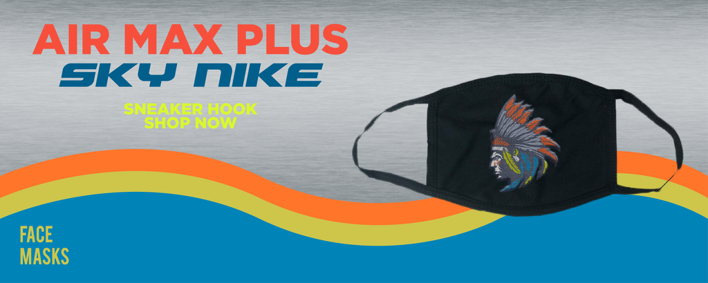 """Air Max Plus """"Sky Nike"""" Face Mask to match Sneakers 