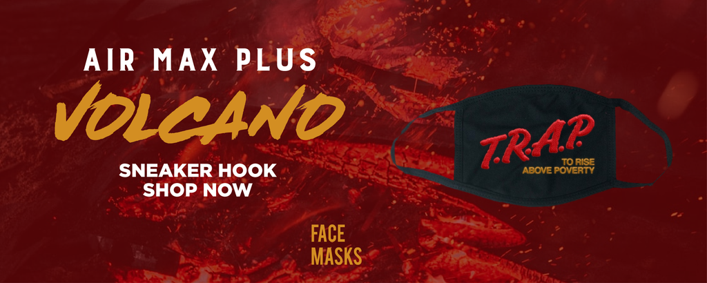 Air Max Plus Volcano Face Mask to match Sneakers | Masks to match Nike Air Max Plus Volcano Shoes