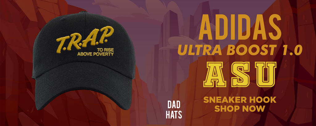Ultra Boost 1.0 ASU Dad Hats to match Sneakers | Hats to match Adidas Ultra Boost 1.0 ASU Shoes