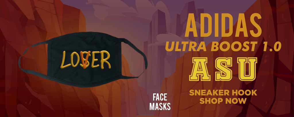 Ultra Boost 1.0 ASU Face Mask to match Sneakers | Masks to match Adidas Ultra Boost 1.0 ASU Shoes