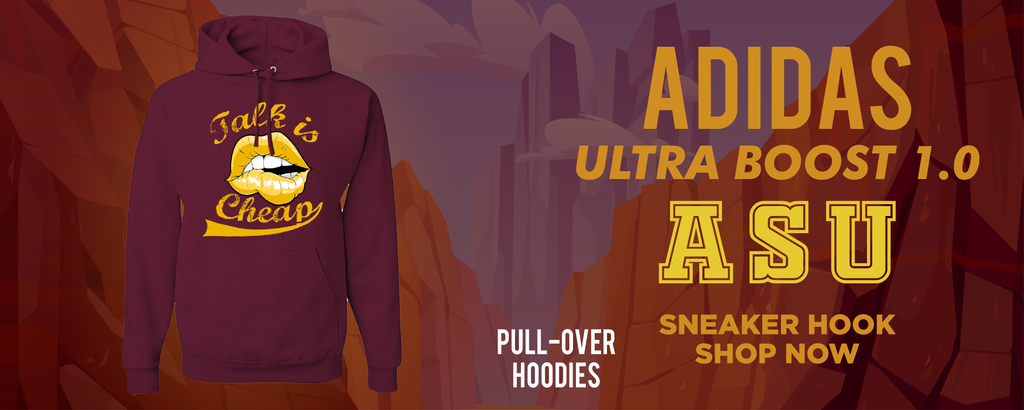 Ultra Boost 1.0 ASU Pullover Hoodies to match Sneakers | Hoodies to match Adidas Ultra Boost 1.0 ASU Shoes