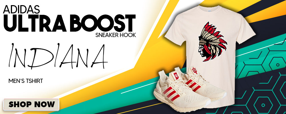 Ultra Boost 1.0 Indiana T Shirts to match Sneakers | Tees to match Adidas Ultra Boost 1.0 Indiana Shoes
