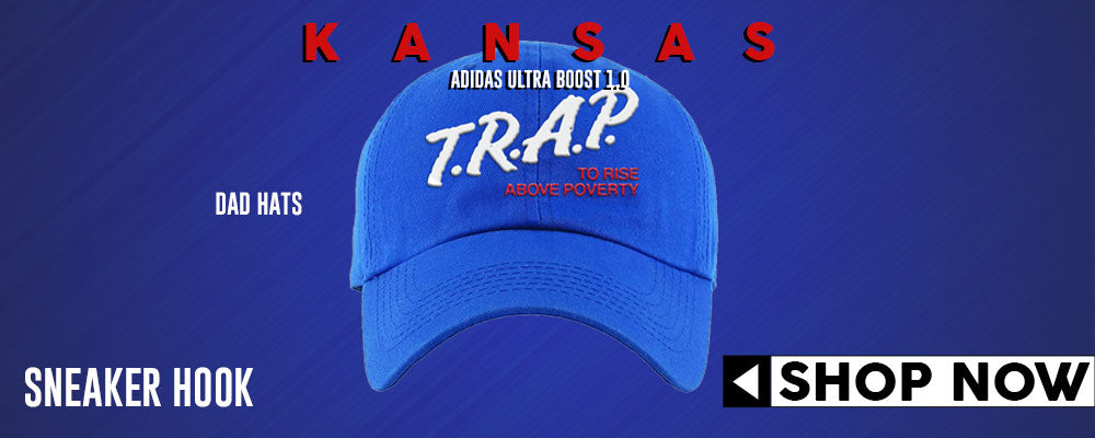 Ultra Boost 1.0 Kansas Dad Hats to match Sneakers | Hats to match Adidas Ultra Boost 1.0 Kansas Shoes