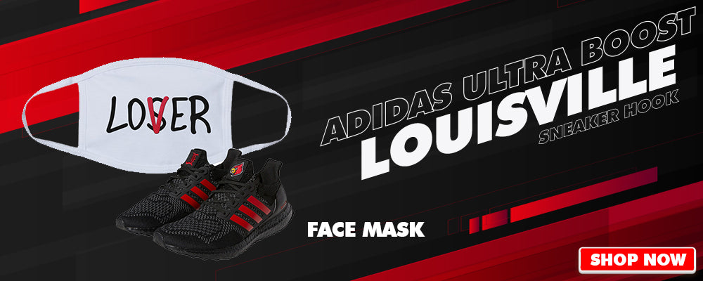 Ultra Boost 1.0 Louisville Face Mask to match Sneakers | Masks to match Adidas Ultra Boost 1.0 Louisville Shoes