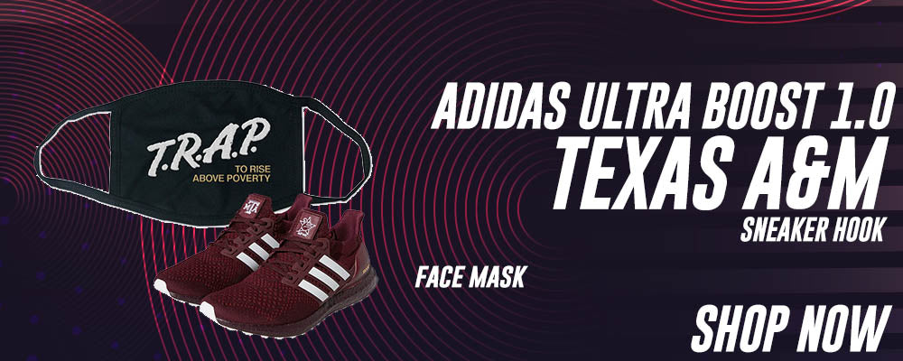 Ultra Boost 1.0 Texas A&M Face Mask to match Sneakers | Masks to match Adidas Ultra Boost 1.0 Texas A&M Shoes