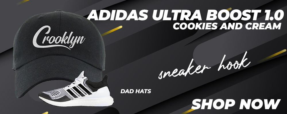 Ultra Boost 1.0 Cookies and Cream Dad Hats to match Sneakers | Hats to match Adidas Ultra Boost 1.0 Cookies and Cream Shoes