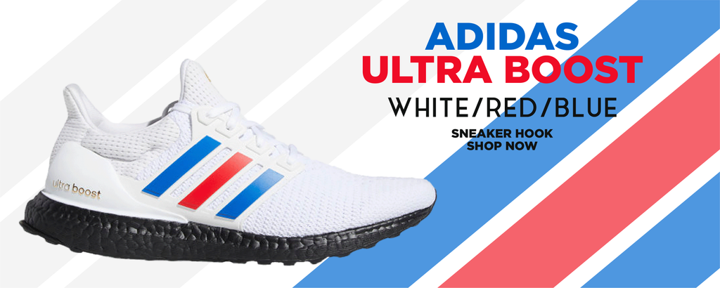 Ultra Boost White Red Blue Clothing to match Sneakers | Clothing to match Adidas Ultra Boost White Red Blue Shoes