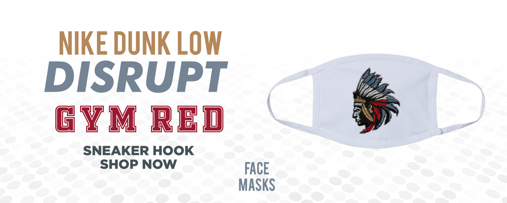 Dunk Low Disrupt Gym Red Face Mask to match Sneakers | Masks to match Nike Dunk Low Disrupt Gym Red Shoes