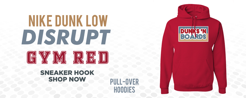 Dunk Low Disrupt Gym Red Pullover Hoodies to match Sneakers | Hoodies to match Nike Dunk Low Disrupt Gym Red Shoes