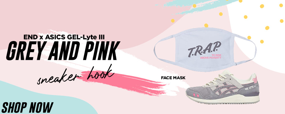 GEL-Lyte III x END Grey And Pink Face Mask to match Sneakers   Masks to match ASICS GEL-Lyte III x END Grey And Pink Shoes