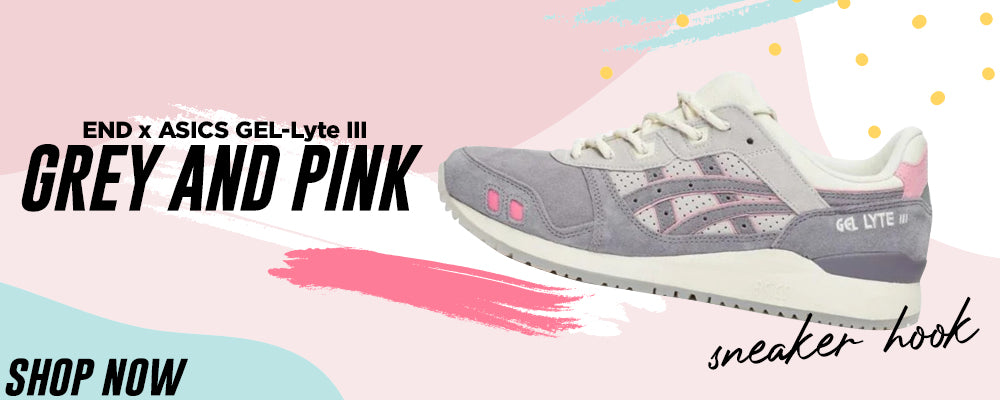 GEL-Lyte III x END Grey And Pink Clothing to match Sneakers   Clothing to match ASICS GEL-Lyte III x END Grey And Pink Shoes