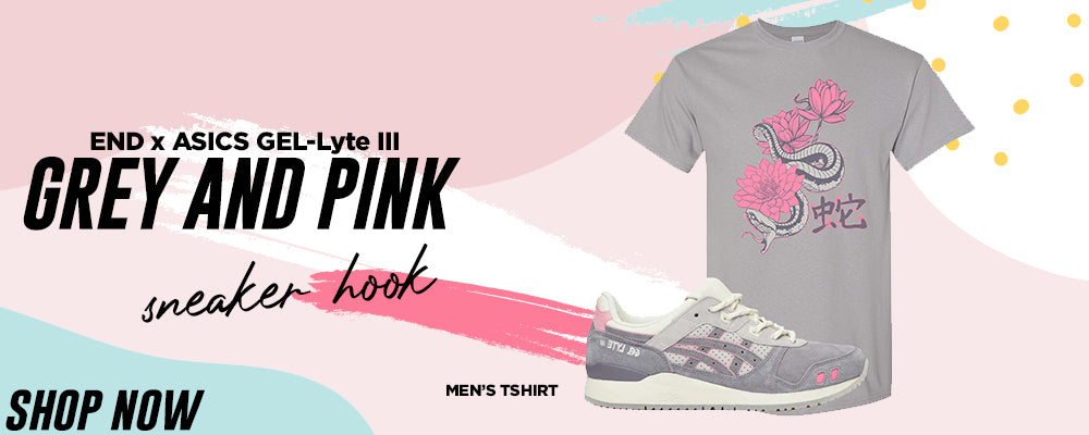GEL-Lyte III x END Grey And Pink T Shirts to match Sneakers | Tees to match ASICS GEL-Lyte III x END Grey And Pink Shoes