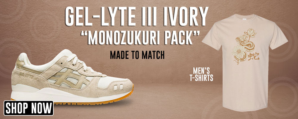 GEL-Lyte III 'Monozukuri Pack' Ivory T Shirts to match Sneakers | Tees to match ASICS GEL-Lyte III 'Monozukuri Pack' Ivory Shoes