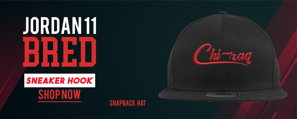 Jordan 11 Bred Sneaker Hook Up Snapback Hats