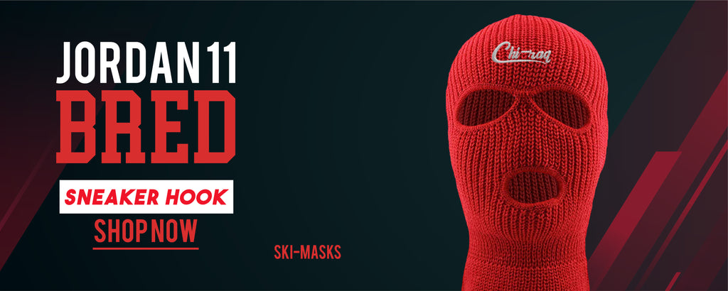 Ski Mask to match Jordan 11 Bred sneakers