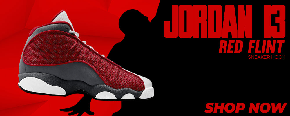 Jordan 13 Red Flint Clothing to match Sneakers | Clothing to match Nike Jordan 13 Red Flint Shoes