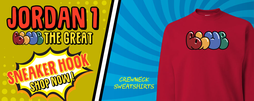 Crewneck Sweatshirts to match AJ1 X Blue The Great Sneakers