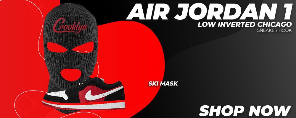Air Jordan 1 Low Inverted Chicago Ski Masks to match Sneakers | Winter Masks to match Nike Air Jordan 1 Low Inverted Chicago Shoes