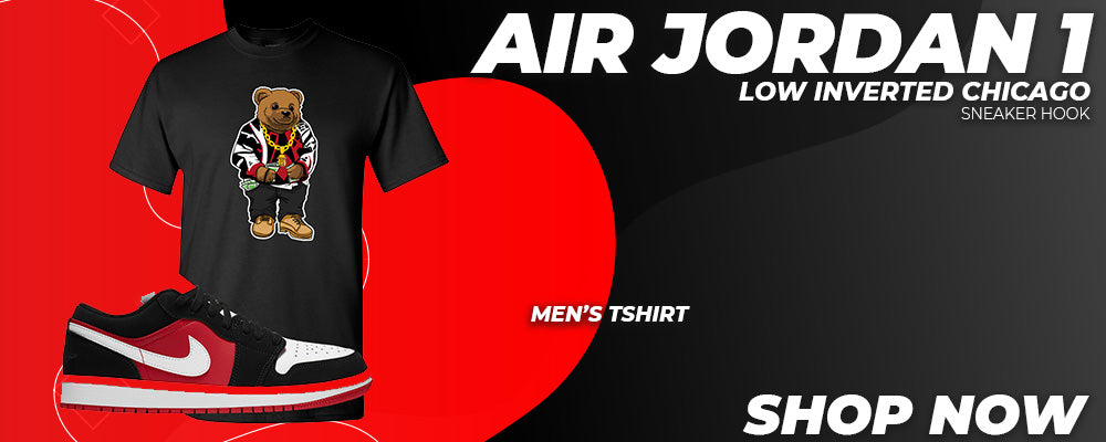 Air Jordan 1 Low Inverted Chicago T Shirts to match Sneakers | Tees to match Nike Air Jordan 1 Low Inverted Chicago Shoes