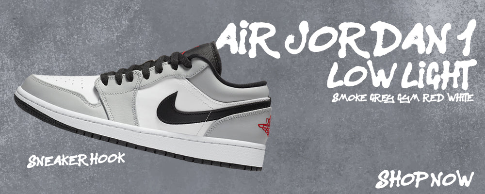 Air Jordan 1 Low Light Smoke Grey/Gym Red/White Clothing to match Sneakers | Clothing to match Nike Air Jordan 1 Low Light Smoke Grey/Gym Red/White Shoes