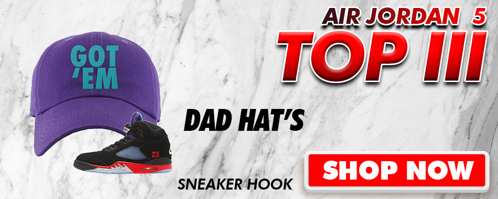 Air Jordan 5 Top 3 Dad Hats to match Sneakers | Hats to match Nike Air Jordan 5 Top 3 Shoes